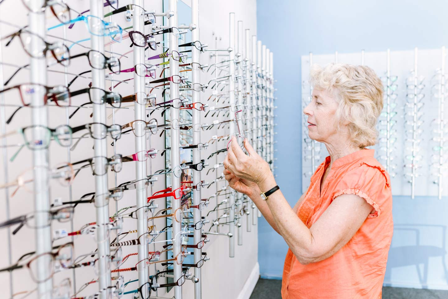 selecting frames from our low gap health fund glasses range